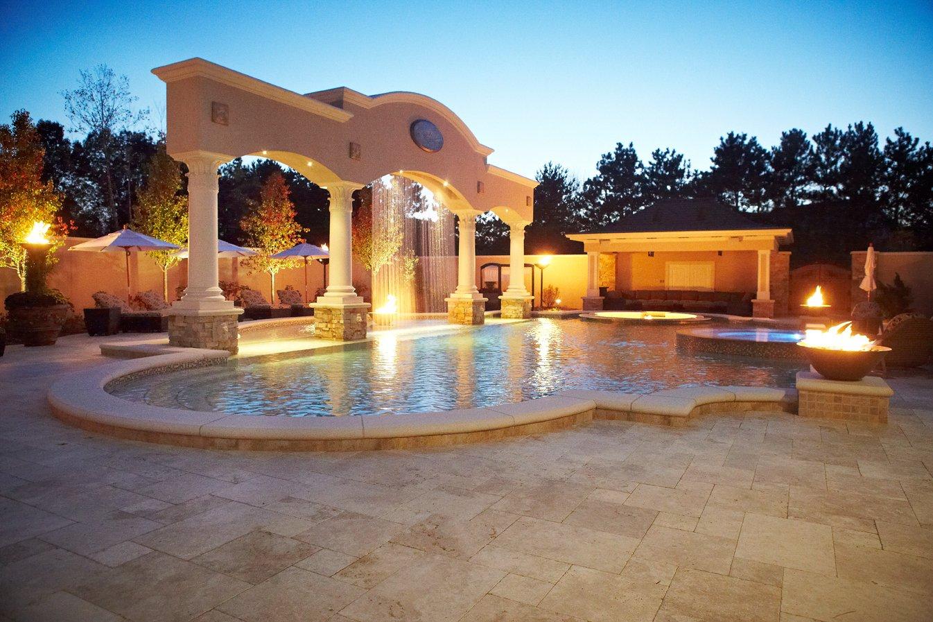 Cascade Luxury Custom Home and Backyard Resort - Signature ... on Luxury Backyard Design  id=52654