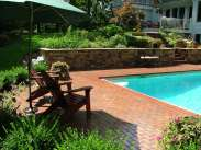 brick paver deck and beds