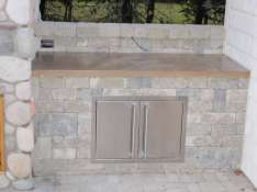 stone outdoor counter