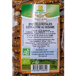 étiquette des Bretzels royales épeautre au sésame - 125 g BIO