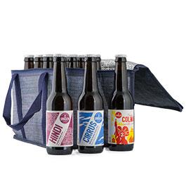 Photo de la sélection des 12 bières par la Brasserie du Grillen