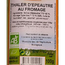 photo de l'étiquette des THALER Moulin des moines