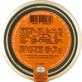 Photo de l'étiquette de la COLMAR BOX APéRO Terrine Choucroute