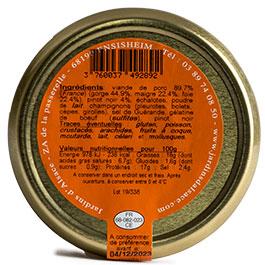 Photo de l'étiquette Terrine au Pinot Noir