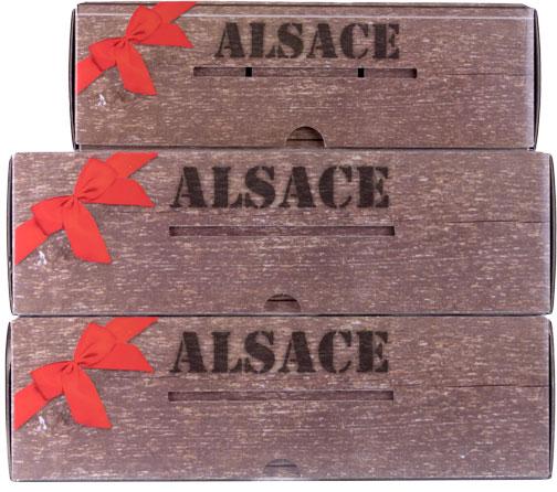 Photo des 3 coffrets de l'offre avec abonnement par Signatures d'Alsace COLMAR BOX