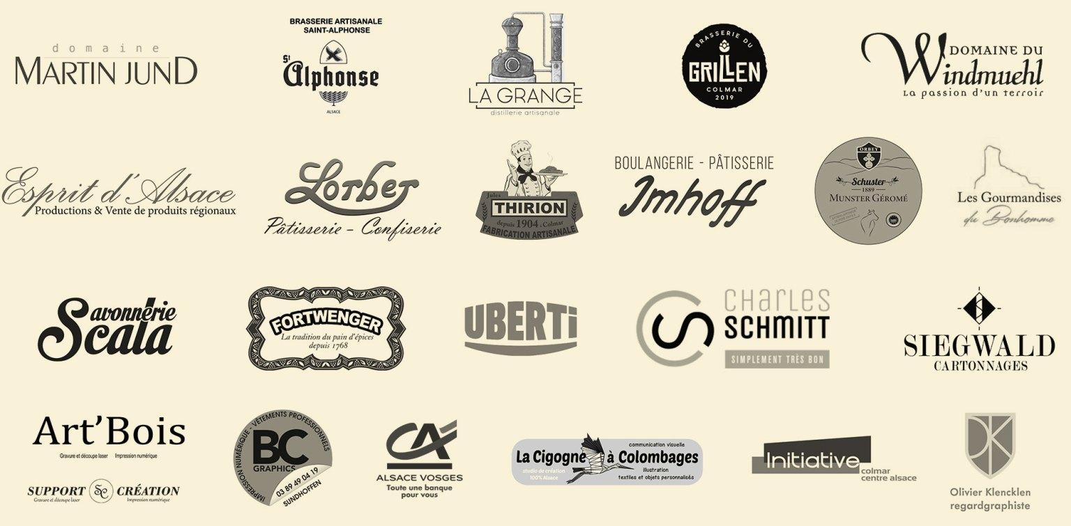 logos des principaux partenaire de Signatures d'Alsace