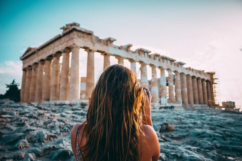 Tourist in Athens, Greece