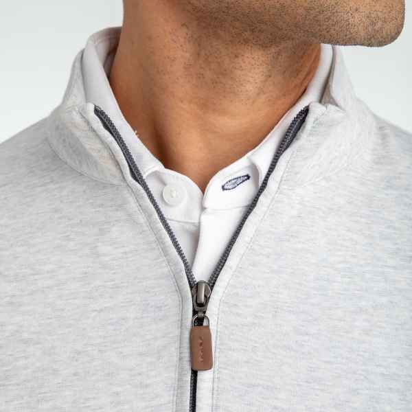 Lubbock Clothing for men Light Gray White Heather Pullover for Men at Signature Stag in Lubbock TX