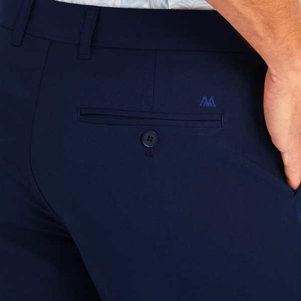 Navy Blue Baron Shorts from Mizzen Main Lubbock Texas Signature Stag