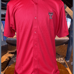 Red Micro Check S/S Button Up Wreck 'Em- Double T