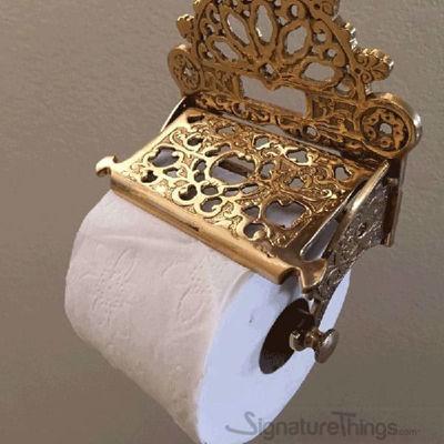 Victorian Toilet Paper Holder Brass Tissue Holders Wall