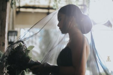 Bride Maja Salvador Wore Black wedding dress1