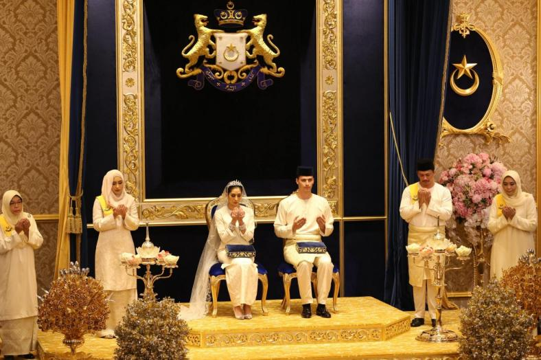 wedding, malaysia, celebrity - Princess of Johor Tunku Aminah marries Dutchman Dennis Muhammad in lavish Royal wedding