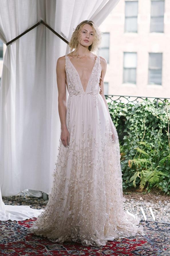 wedding-dresses, style-fashion, lookbook - ALEXANDRA GRECCO Fall 2018 Bridal Collection—New York Fashion Week