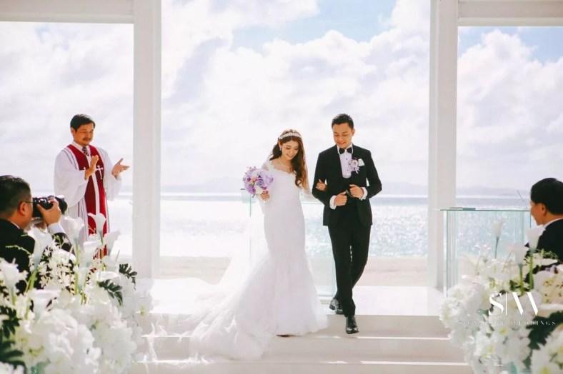Janice & Everest's Heavenly Wedding in the Clouds in Okinawa Japan Okuma Felicia Church