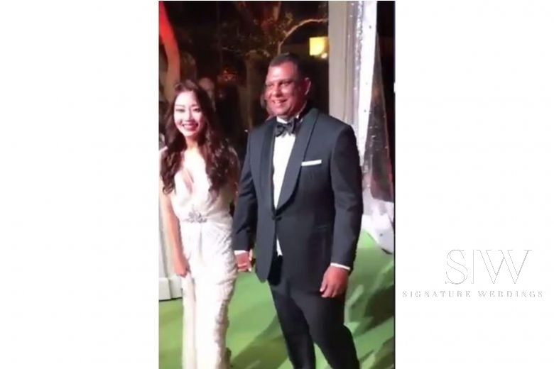 wedding, malaysia, global-wedding, celebrity - Video leak of AirAsia's Tony Fernandes & wife Chloe secret wedding