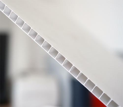 Corrugated White Plastic Board Signcut Inc