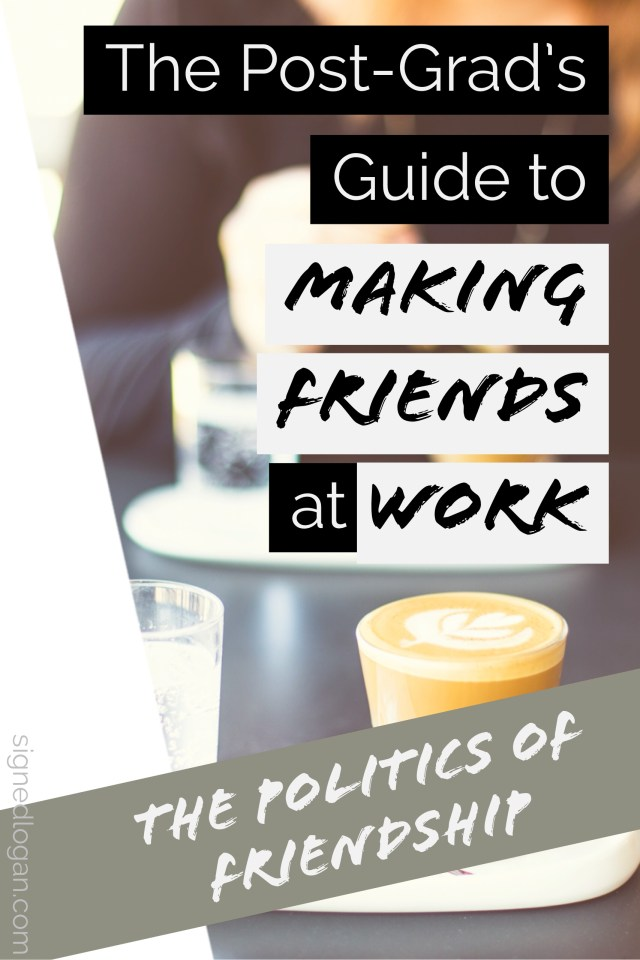 Making Friends at Work - It's difficult to make new friends once you've graduated college and entered the workforce which is why making friends at work is such an important goal to work towards! But making friends at work doesn't happen overnight, it takes effort and work just like any friendship. Follow these tips for making friends at work!