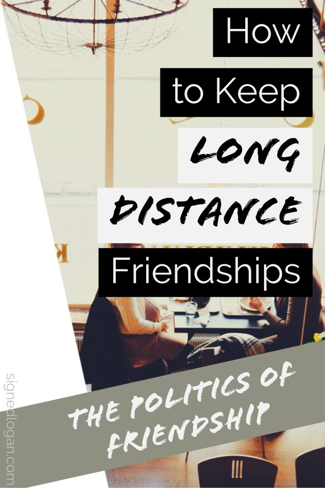Keeping long distance friendships after graduating from college can be difficult because you're so used to seeing each other everyday. In the next edition of the Politics of Friendship series, we talk about how to develop good habits to ensure that you're actively keeping long distance friendships post graduation!