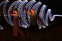 Light painting Live performance Reasonanz