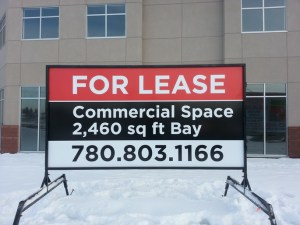Commercial Real Estate Signs Edmonton South