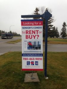 Edmonton South For Lease Signs