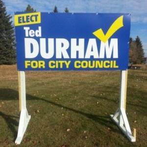 Leduc Election Signs