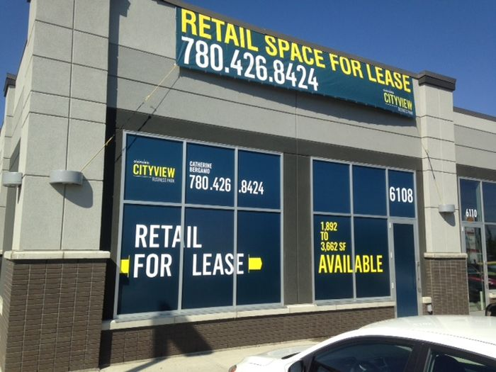 For Lease Signs Edmonton West
