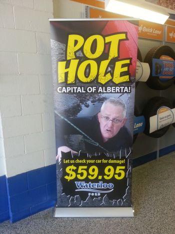Edmonton West Pop Up Banner Stand
