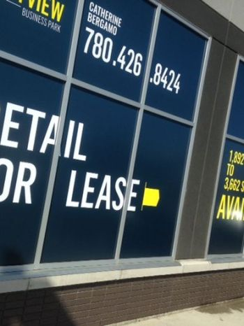 Edmonton East For Lease Signs