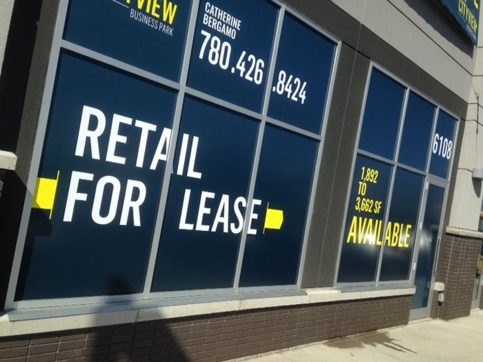 For Lease Signs Stony Plain