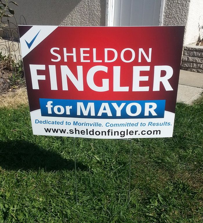 Sherwood Park Election Sign