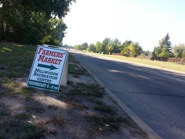 Stony Plain Sidewalk Signs