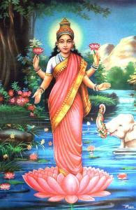 diosa de la belleza y abundancia viste de color rojo