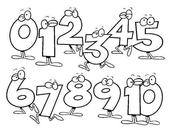 Dibujos Para Colorear Con Numeros Del 1 Al 100: Plantilla Números Para Colorear I SIGNIFICADO DE LOS NUMEROS