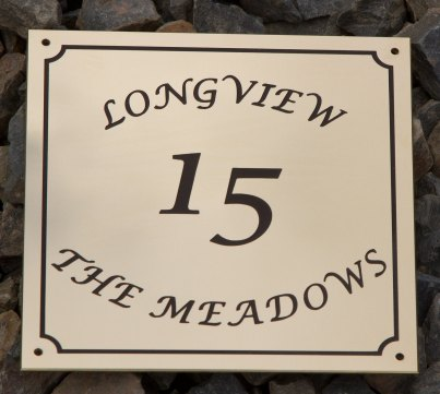 Brass House Sign Font Lucida Calligraphy. ref 1403.SE.014
