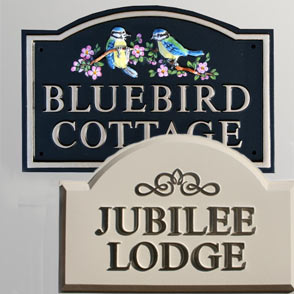 Hand Painted Cast Metal House Sign
