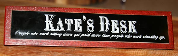 Personalised Desk top sign gift