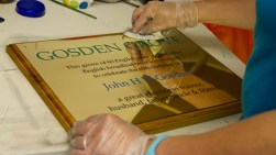 Engraved Brass Business Sign