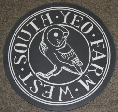 Round slate sign using customers artwork ref - 1002.12.04