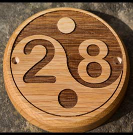 Wooden number sign