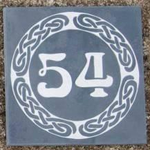 Celtic slate number