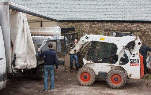 Rolles Roller coming off the lorry