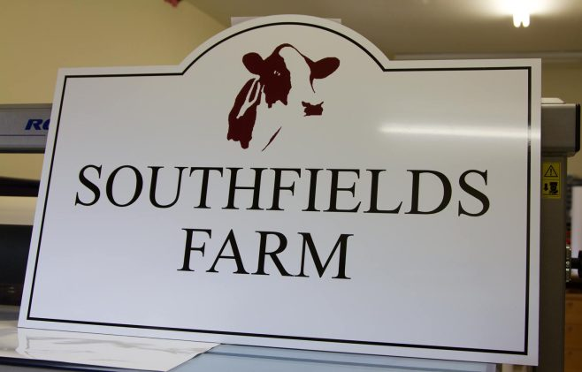 Shaped Farm Sign