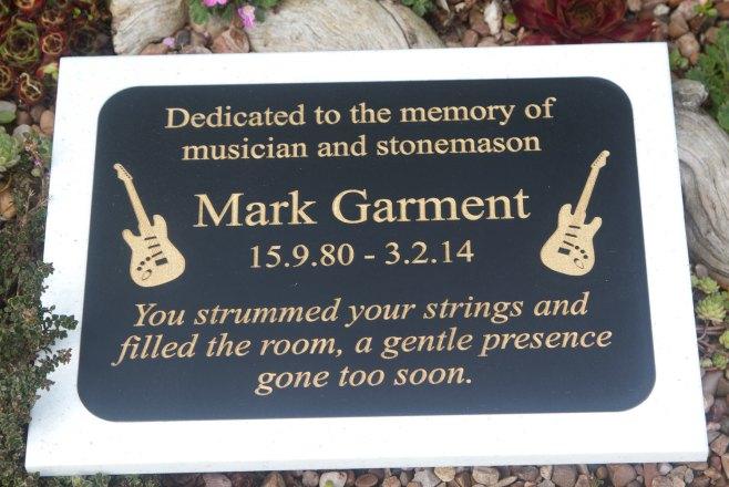 Two tone corian memorial