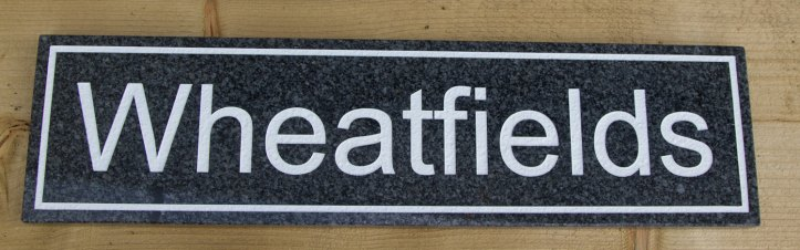 Dark Grey Granite House Sign