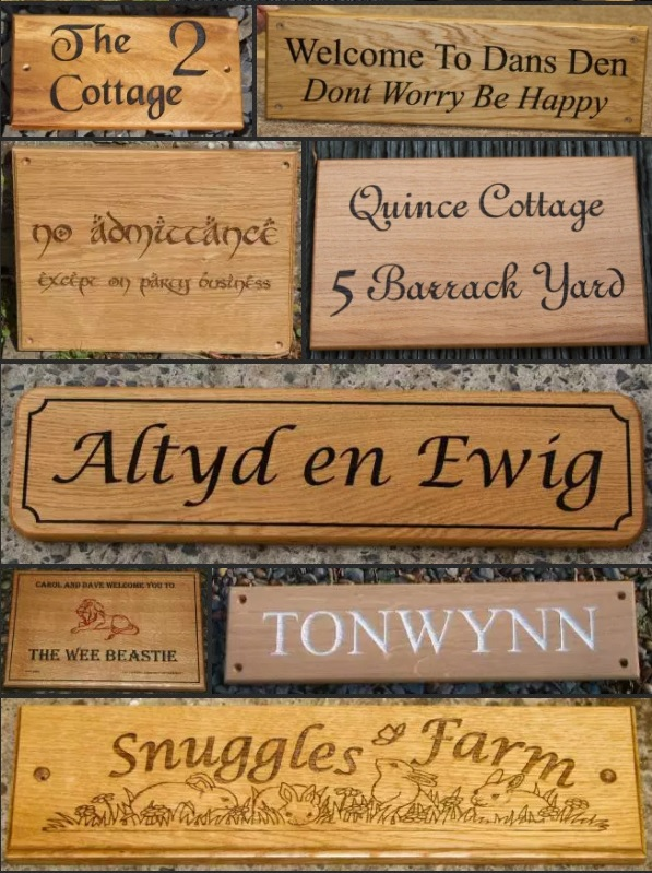 wooden plaques