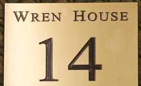 Polished Brass Number