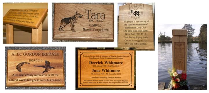 wooden memorial