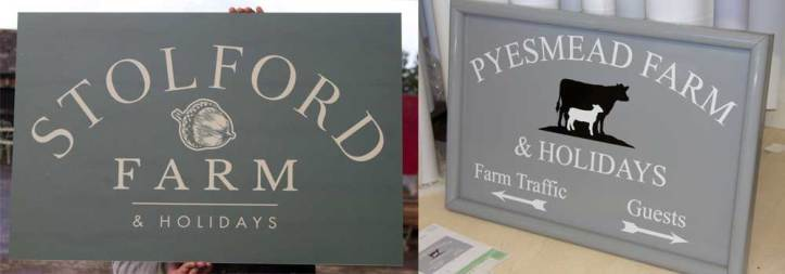 Solid aluminium signs, perfect for business